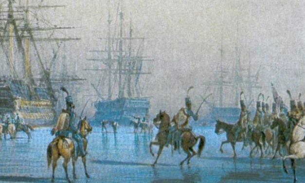 """La bataille """"navale"""" du Texel : petit backstab sur la glace"""