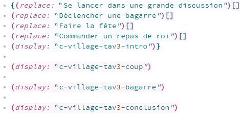 Exemple de texte avec méthode combinatoire linéaire - narrative design
